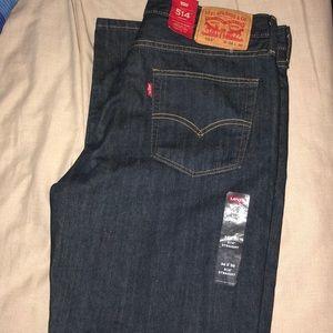NWT men's Levi's dark wash jeans